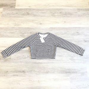 American Apparel Long Sleeve Crop Raglan Sweater